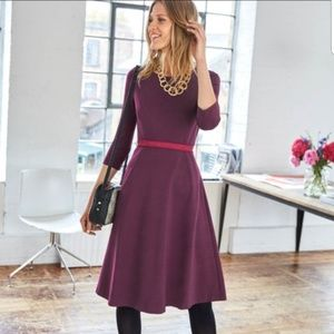 Boden 6P IRene pointe dress burgundy 664
